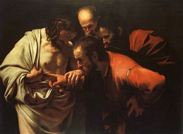 Caravaggio - The Incredulity of Saint Thomas (ca. 1602)