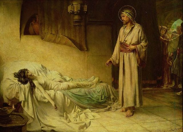 George Percy Jacomb Hood - The Raising of Jairus' Daughter (1895)