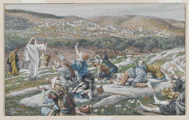 James Tissot - Healing of Ten Lepers, Brooklyn Museum (ca. 1890)