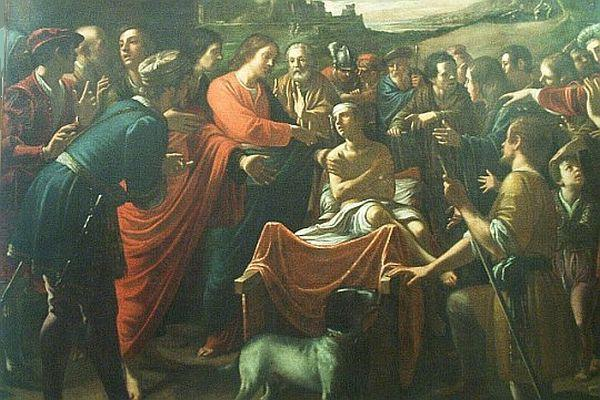 Mario Minniti - Miracle of the Resurrection of the Son of the Widow of Nain (ca. 1640)