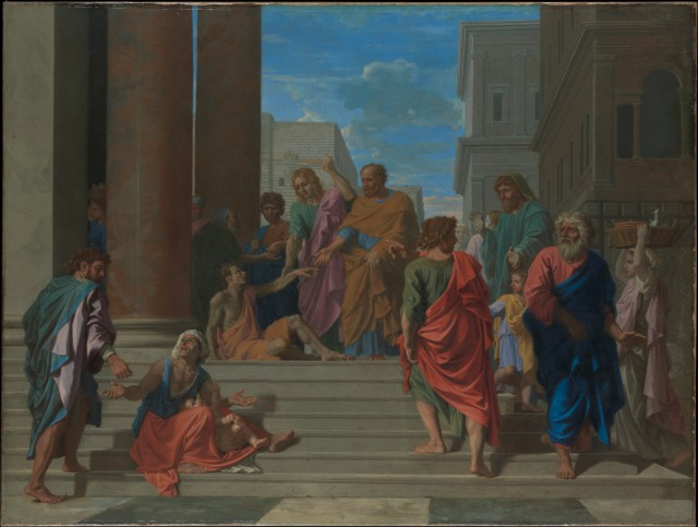 Nicolas Poussin - Saints Peter and John Healing the Lame Man (1655)