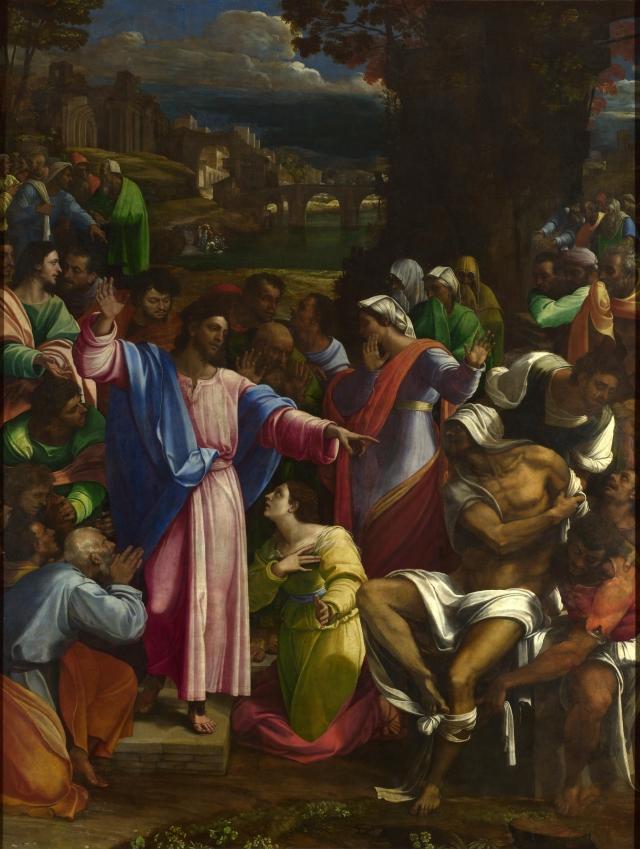 Sebastiano del Piombo, The Raising of Lazarus (ca. 1518)