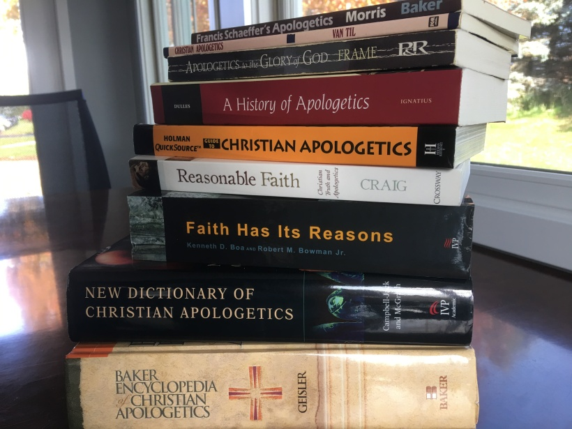 Image result for image of books by christian apologists